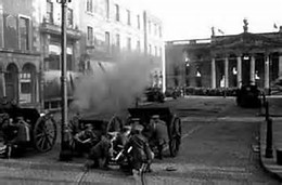 British Troops firing on the GPO